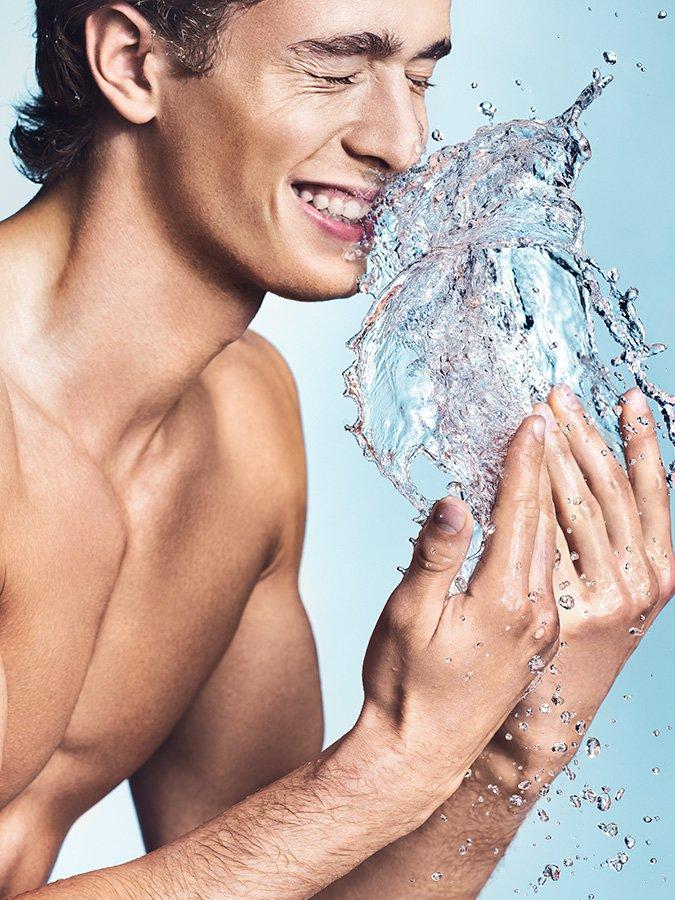 Fotograf Portrait Liquid Splash